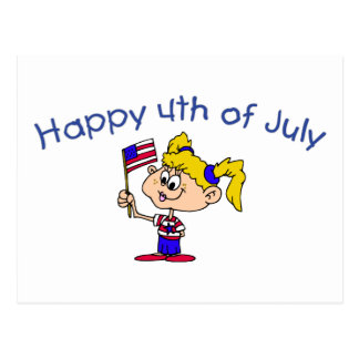 Happy 4th Of July (Girl) Postcard