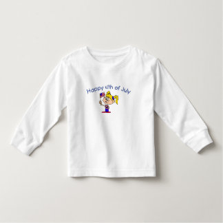 Happy 4th Of July (Girl) Toddler T-shirt