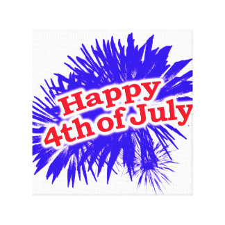 Happy 4th of July Graphic Logo Canvas Print