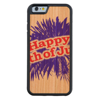 Happy 4th of July Graphic Logo Carved Cherry iPhone 6 Bumper Case