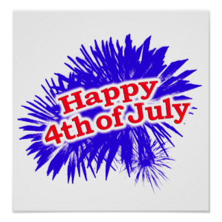 Happy 4th of July Graphic Logo Poster