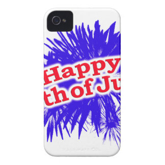 Happy 4th of July Graphic Theme iPhone 4 Case