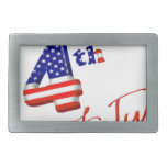 Happy 4th of July, Happy Independence day Rectangular Belt Buckle