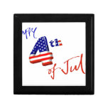 Happy 4th of July, Happy Independence day Gift Box