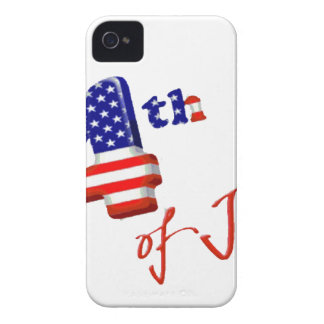 Happy 4th of July, Happy Independence day iPhone 4 Case
