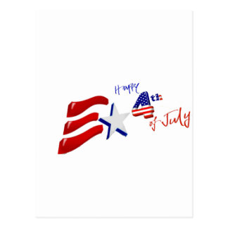 happy 4th of July, Happy independence day Postcard