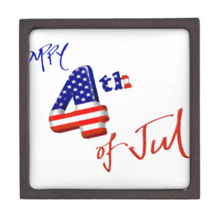 Happy 4th of July, Happy Independence day Premium Trinket Boxes