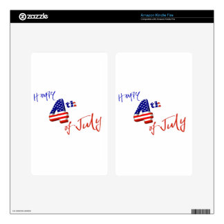 Happy 4th of July, Happy Independence day Kindle Fire Decals