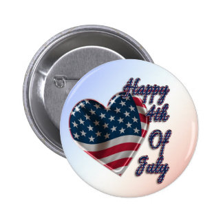 Happy 4th of July Heart - Button