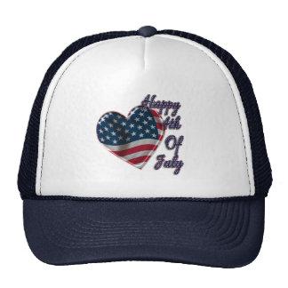 Happy 4th of July Heart - Hat