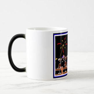 Happy 4th of July Horse Cartoon Coffee Mug