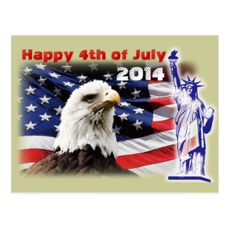 Happy 4th of July Independence Day 2014 Postcard