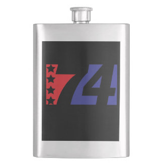Happy 4th of July Independence Day Flask