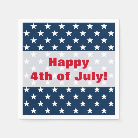 Happy 4th of July Independence Day party napkins
