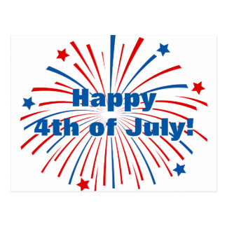 Happy 4th of July Independence Day party postcards