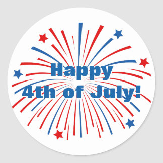 Happy 4th of july Independence Day party stickers