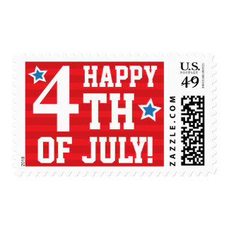Happy 4th of july independence day postage stamps