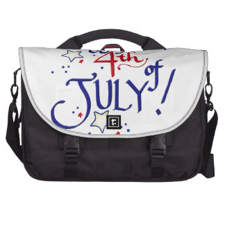 Happy 4th of July Laptop Messenger Bag