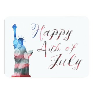 Happy 4th of July (liberty bokeh) Card