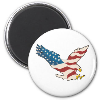 HAPPY 4TH OF JULY 2 INCH ROUND MAGNET