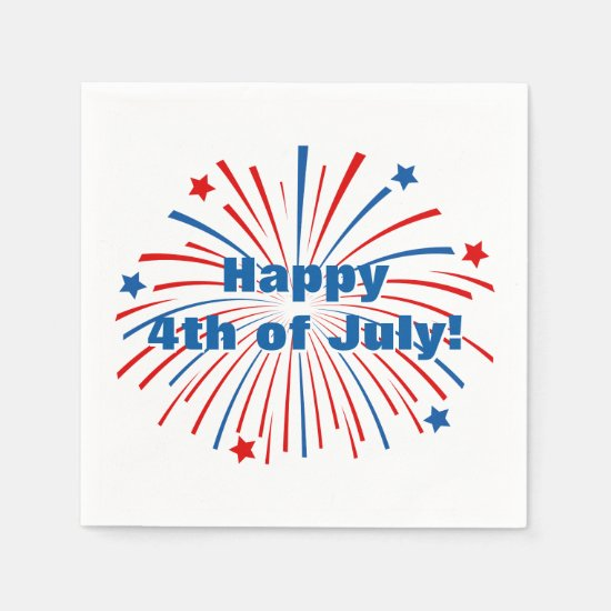 Happy 4th of July napkins for Independence Day