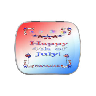Happy 4th of July Party Favor Candy Tin