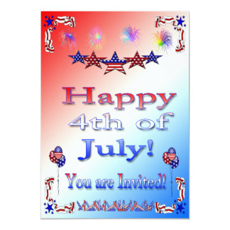 Happy 4th of July Party Invitation