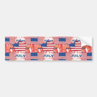 Happy 4th of July Patriotic Car Bumper Sticker