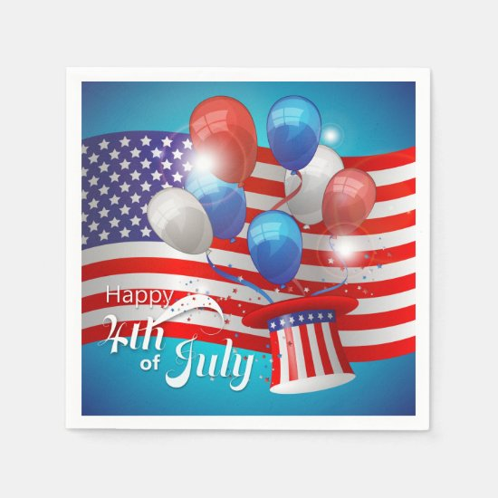 Happy 4th of July Patriotic Napkin
