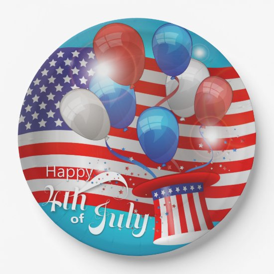 Happy 4th of July Patriotic Paper Plate