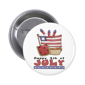 Happy 4th of July Pin