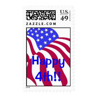 Happy 4th of July Postage Stamps