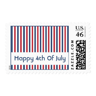 Happy 4th Of July Postage Stamps (Stripes)