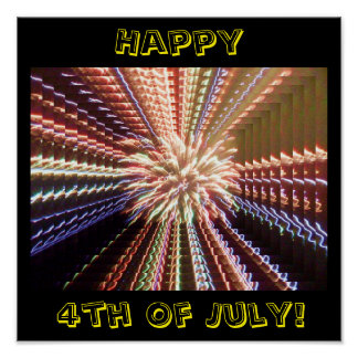 HAPPY 4TH OF JULY poster