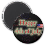 Happy 4th Of July Refrigerator Magnet