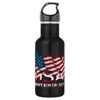 HAPPY 4TH OF JULY STAINLESS STEEL WATER BOTTLE