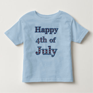 Happy 4th of July Stars & Stripes Text Design Toddler T-shirt