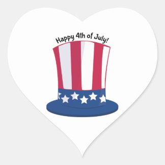 Happy 4th Of July! Heart Sticker