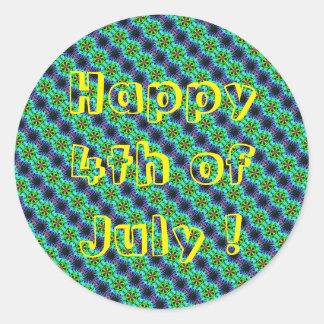 Happy 4th of July sticker Classic Round Sticker
