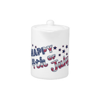Happy 4th Of July Teapot
