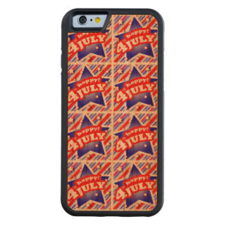 Happy 4th of July Theme Pattern Carved Cherry iPhone 6 Bumper Case