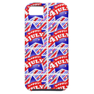 Happy 4th of July Theme Pattern iPhone SE/5/5s Case