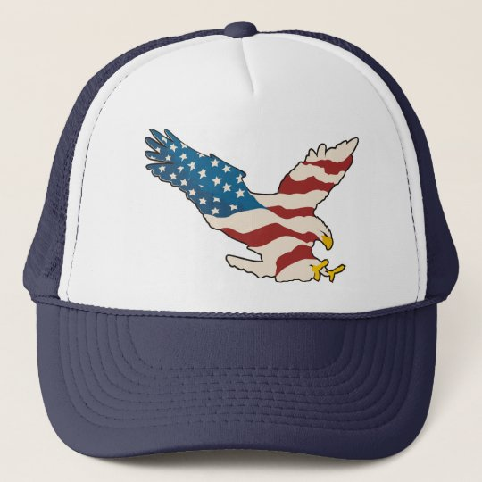 HAPPY 4TH OF JULY TRUCKER HAT