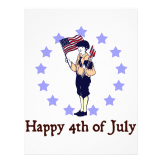 Happy 4th of July Vintage Art Flyer