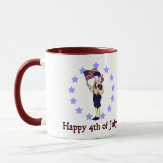 Happy 4th of July Vintage Art Mug