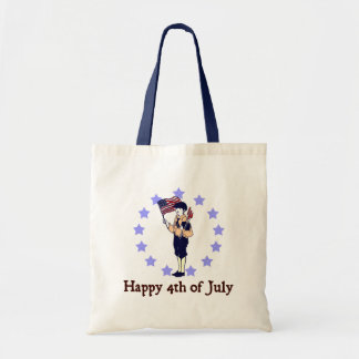 Happy 4th of July Vintage Art Tote Bag