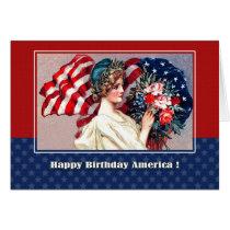 Happy 4th of July. Vintage Design Custom Cards