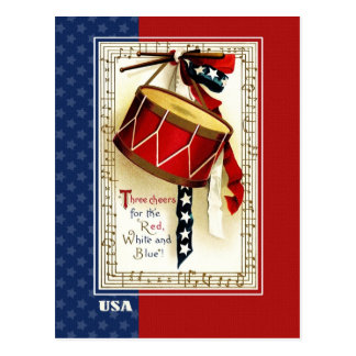 Happy 4th of July . Vintage design Postcards