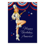 Happy 4th of July. Vintage Pin-up Design Cards