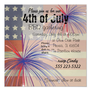 Happy 4th Of July | Vintage Style Card at Zazzle